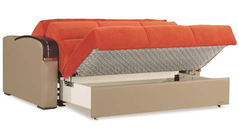 Sofa Plus Bed sleep plus sofa bed in orange fabric by casamode w options