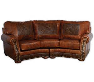 Curved Leather Sofas Cameron Ranch Curved Sofa