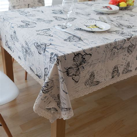 Manufacturer Cloth Table Cloths Cold Cloth Table Cloths - pastoral linen tableclothes butterfly table cloth print