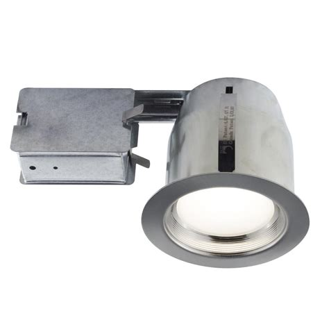 Bazz Lighting Fixtures Bazz 5 In Brushed Chrome Intergrated Led Recessed Fixture Kit For D Locations 110l11b The
