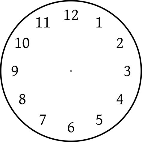 blank clock face template for beginners kiddo shelter