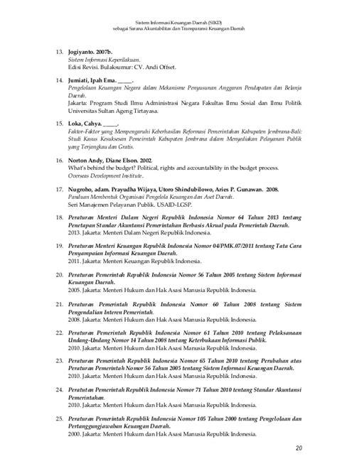 tesis akuntansi pemerintah sistem akuntansi keuangan daerah sarana akuntabilitas dan