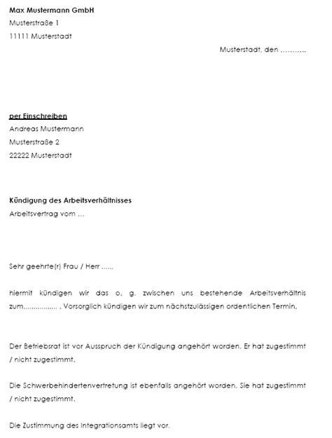 k 252 ndigungsschreiben probezeit invitation templated