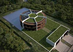 provided sustainable eco house in the form of football for