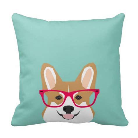 Corgi Pillow Pet by Corgi With Glasses Corgi Gift Throw