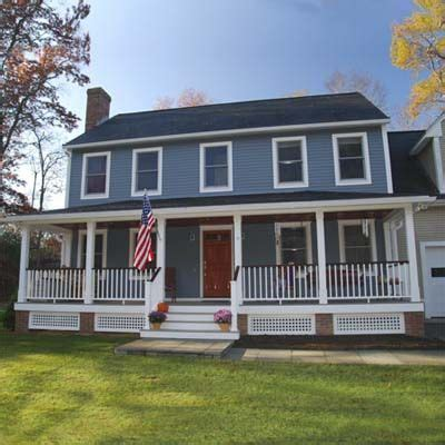 colonial house with farmers porch remodelaholic real life rooms colonial porch curb appeal