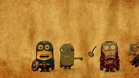 captain america minion wallpaper iron man thor captain america despicable me avengers