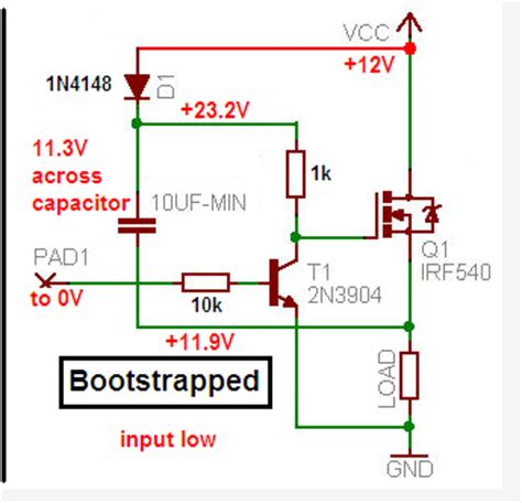 bootstrap transistor driver bootstrap instead of any driver for mosfet