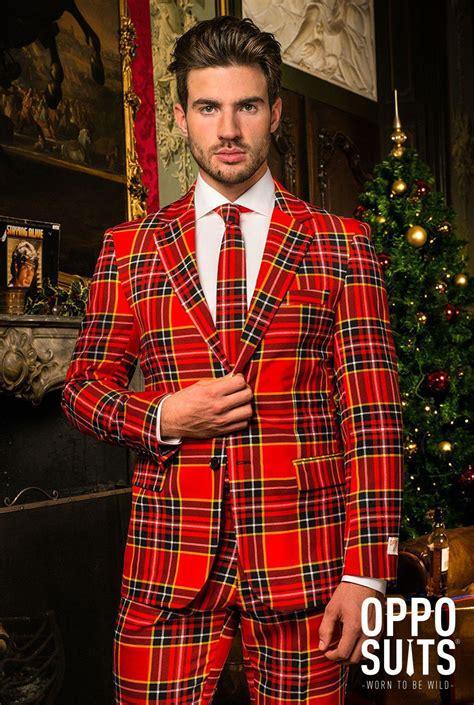 xmas pattern suit the lumberjack plaid suit christmas suit opposuits