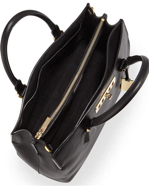 Michael Kors Vivianne Black 3 michael kors collection large satchel
