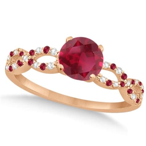 Ruby 8 05ct infinity ruby engagement ring 14k gold 1