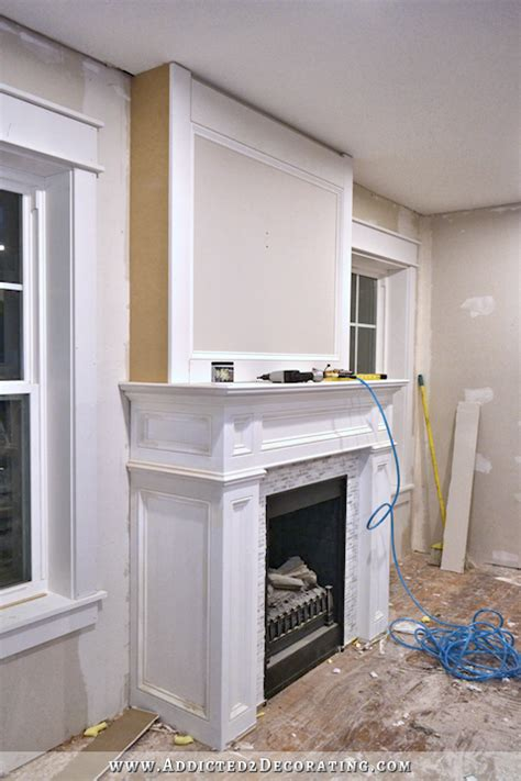 building out a fireplace how to build a and easy fireplace overmantel