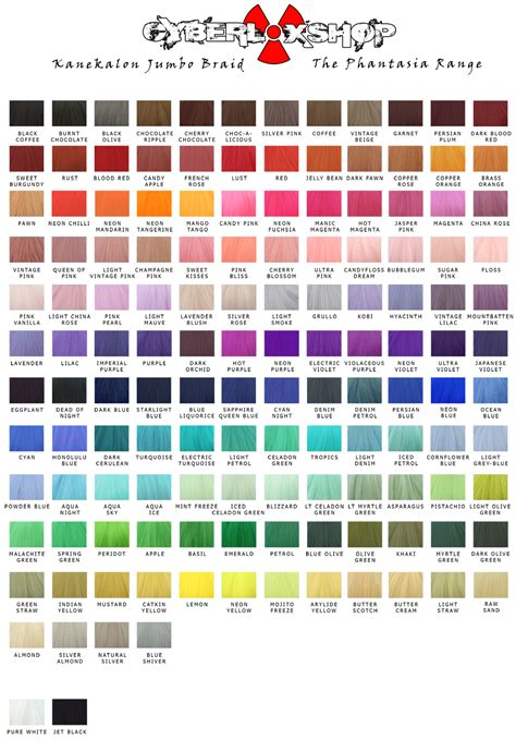 hair color chart for braids cyberloxshop phantasia kanekalon jumbo braid lust red hair