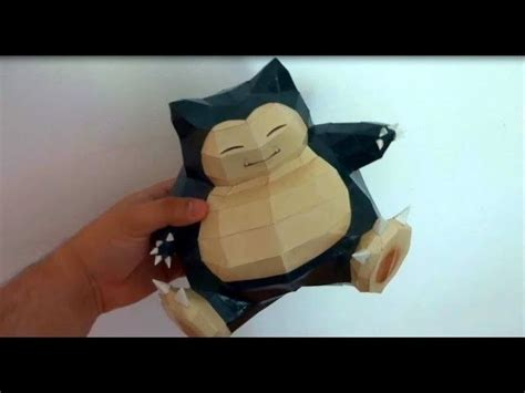 snorlax pok 233 mon paper craft crafts paper and