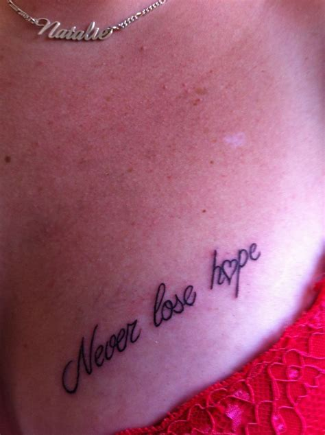 never lose hope tattoo never lose www pixshark images