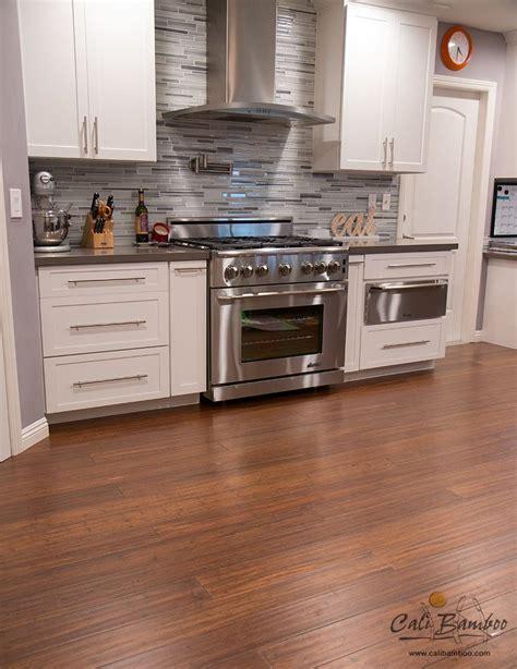 Kitchen flooring idea: Antique Java bamboo flooring by