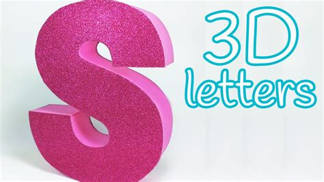 How To Make Paper Letters For Your Wall - diy crafts 3d letters room decor innova crafts