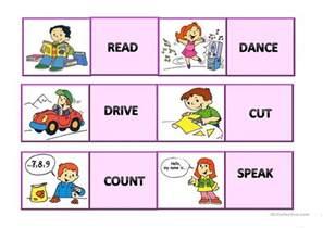 memory cards verbs worksheet free esl printable