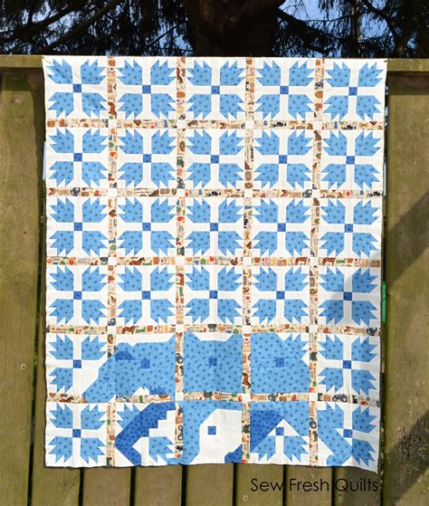 Paw Quilt by Sew Fresh Quilts Mod Paw Qal Quilt Assembly