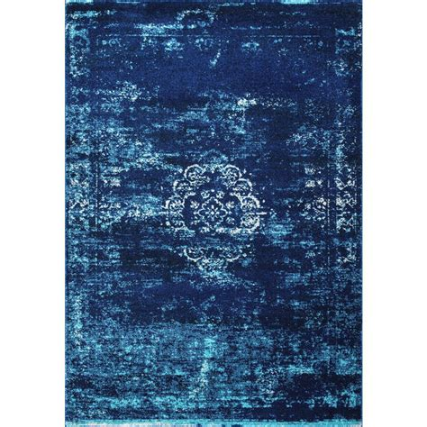 10 ft runner rugs nuloom tanja overdyed medallion blue 8 ft x 10 ft area rug rzbd47a 8010 the home depot