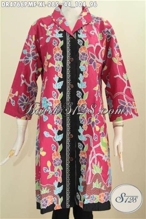 desain baju batik hitam dress batik merah kombinasi hitam motif bunga baju batik