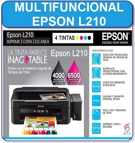 reset impresora epson l210 gratis multifuncional epson l210 sistema de tinta continuo