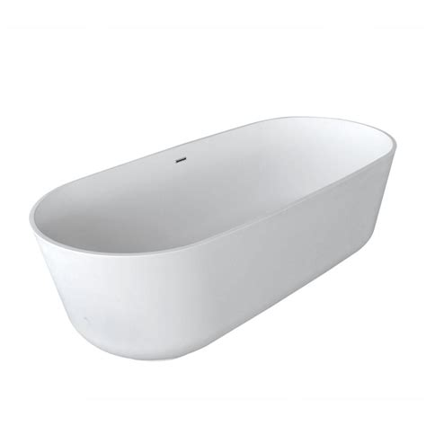 center drain bathtubs schon logan 5 9 ft center drain freestanding bathtub in