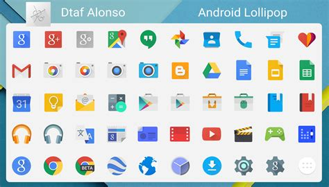 icons for android android lollipop icons by dtafalonso on deviantart