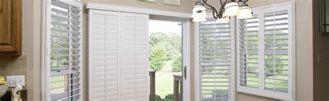 Sliding Shutters For Sliding Glass Doors Sliding Glass Door Shutters In Chicago Sunburst Shutters Chicago Il