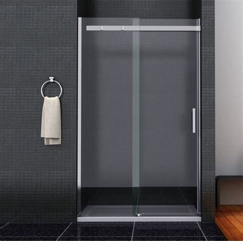 Showers With Sliding Doors Bathroom Sliding Door Shower Enclosure Screen Cubicle Side Panel And Tray Ebay