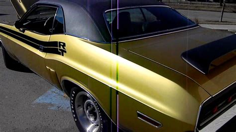 Gold Interior Paint 1971 Dodge Challenger Rt 340 Idle Just Completed