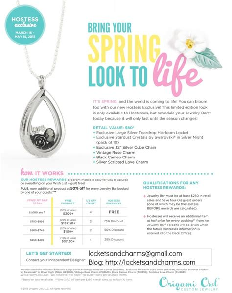Origami Owl Hostess Gift - origami owl is free jewelry host origami owl
