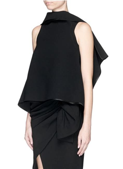 backless drape top maticevski entrancing elastic band backless drape top