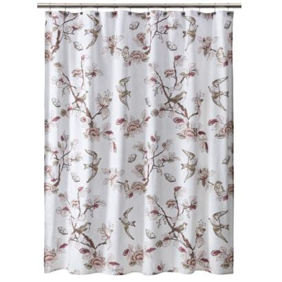 target bird shower curtain threshold shower curtain bird pink for the home