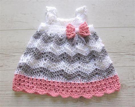 crochet pattern pink girl dress baby girl crochet dress baby shower gift little girl dress