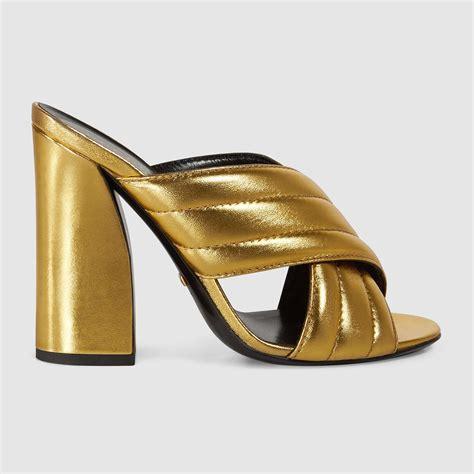 Sandal Hells Gucci 338 metallic crossover sandal gucci s sandals 408306b8b008016