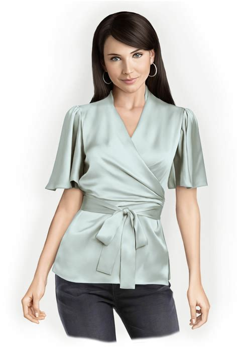 blouse pattern video download blouse with wrap sewing pattern 5758 made to measure