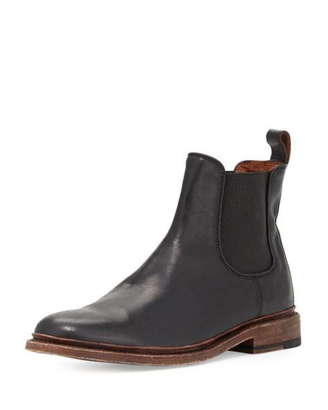 frye chelsea boot frye leather chelsea boot in black for lyst