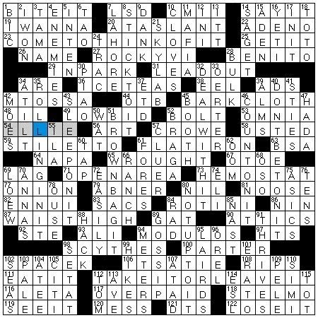 Upholstery Material Crossword Clue by Rex Does The Nyt Crossword Puzzle Olympic Discus