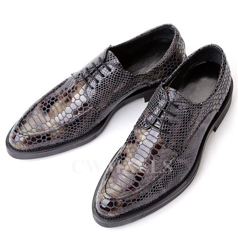 mens print leather dress shoes cw751157