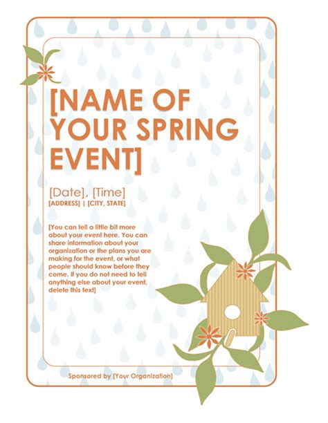 download spring event flyer free flyer templates for
