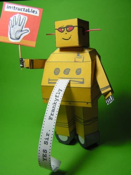 How To Make A Paper Robot - instructables paper robot by frankyfly