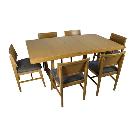 Dining Table With 6 Chairs 59 Mid Century Extension Dining Table And Six Chairs Tables