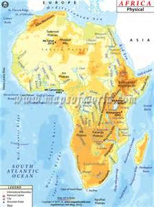 africa map rivers lakes mountains africa physical map maps africa and maps