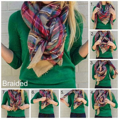 how to drape a scarf around your neck 20 style tips on how to wear blanket scarves gurl com