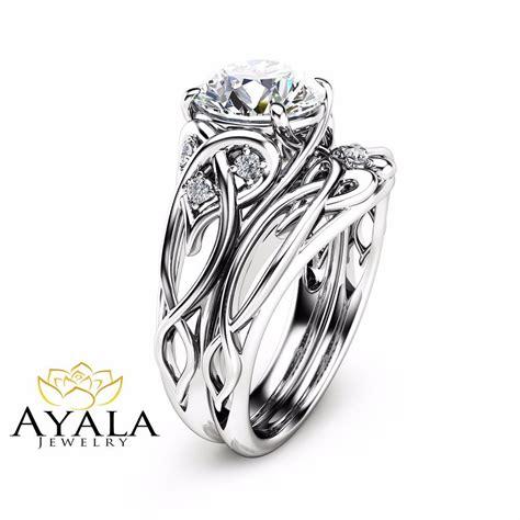 2 carat wedding ring 14k white gold unique engagement rings 2 carat diamond