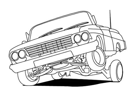 coloring pages of lowrider cars lowrider cars hydraulics coloring pages download print