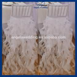 Cheap Chair Covers Wholesale Ch012a Sale Wholesale Fancy Curly Willow Organza Fancy White Wedding Chair Covers And Sashes