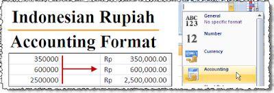accounting number format fungsinya adalah format angka rupiah pada excel 2007 anselez corp