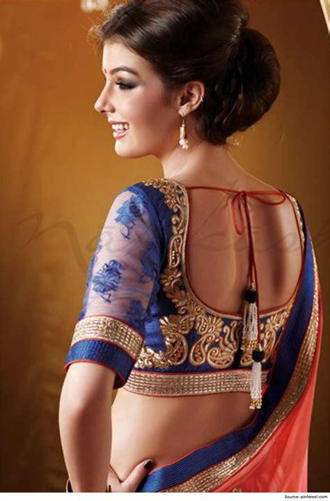 saree net blouse designs 10 trendy blouse designs for net sarees